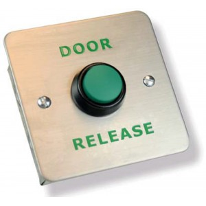 Stainless Steel Door Release Green Button